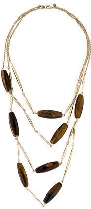 Alexis BittarAlexis Bittar Miss Havisham Tiger's Eye Encrusted Spear Bib Necklace