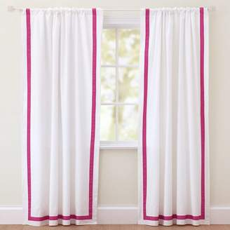 Pottery Barn Teen Suite Ribbon Drape With Blackout, 63&quot, Pink Magenta