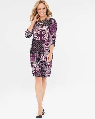 Chico's Chicos Damask-Print Dress