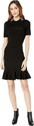 Taylor Dresses Women's Embroidered Collar Sweater Dress