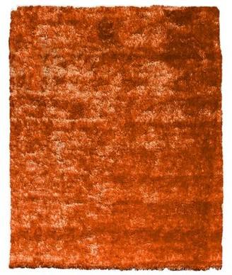 Home Mart Goods Reversible Soft Solid Handmade Shag Orange Area Rug Home Mart Goods