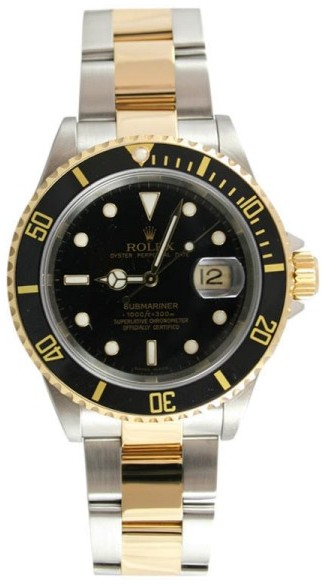 Rolex Submariner 16613 Stainless Steel and 18K Gold Black Face 2003-2006