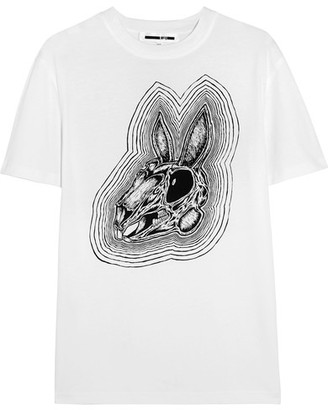 McQ Alexander McQueen - Printed Cotton-jersey T-shirt - White $170 thestylecure.com