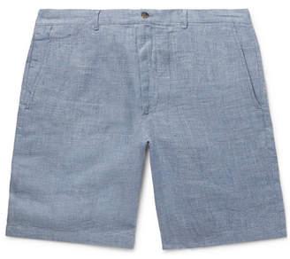 Club Monaco Maddox Mélange Linen Shorts