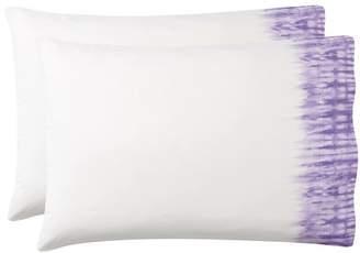 Pottery Barn Teen Tie-Dye Cuff Pillowcases, Set of 2, Purple