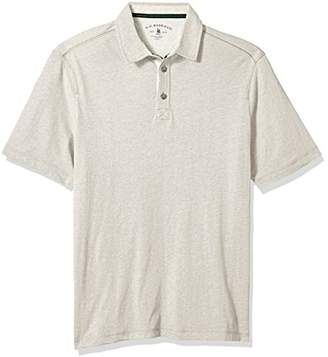G.H. Bass & Co. Men's Size Big and Tall Desert Mountain Short Sleeve Solid Heather Polo Shirt, Oyster Gray, 3X-Large