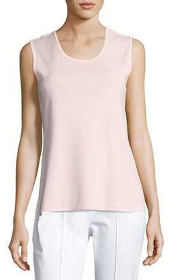 Misook Scoop-Neck Tank Top, Pink, Plus Size