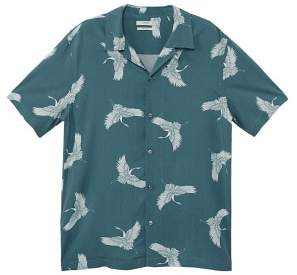 Mango Man MANGO MAN Regular-fit birds print shirt