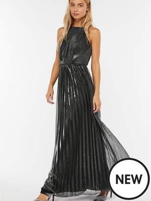 Monsoon Miranda Lamé Maxi Dress - Silver