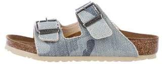 Birkenstock Girls' Canvas Slip-On Sandals