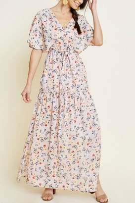 Hayden Ditsy-Floral V-Neck Maxi-Dress