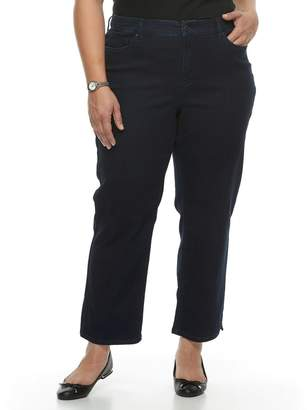 Croft & Barrow Plus Size Vented Ankle Jeans