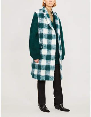 Calvin Klein Oversized V-neck wool and mohair-blend jumper