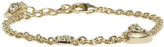 Versace Gold Two Medusa Chain Bracelet