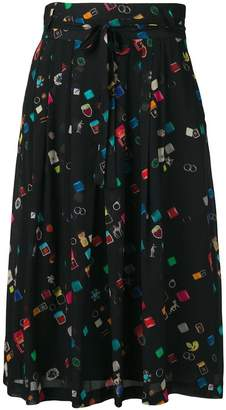 Paul Smith colour-block flared skirt