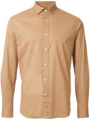 Kent & Curwen dot print long sleeve shirt