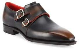 Arca Corthay Twin Pullman French Calf Leather Shoes