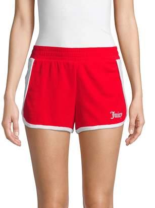 Juicy Couture Colorblock Cotton Blend Shorts