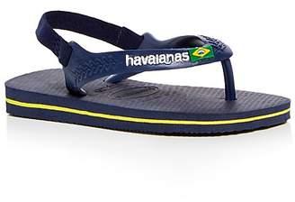 Havaianas Unisex Brazilian Flag Slingback Flip-Flops - Walker, Toddler