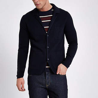 River Island Only and Sons navy blazer knit cardigan