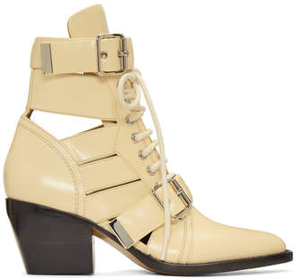Chloé Beige Medium Rylee Boots