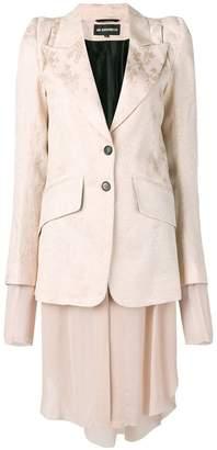 Ann Demeulemeester brocade layered blazer
