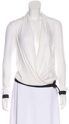 Helmut Lang Long Sleeve Wrap Top