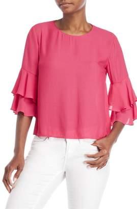 Lush Ruffle Sleeve Blouse