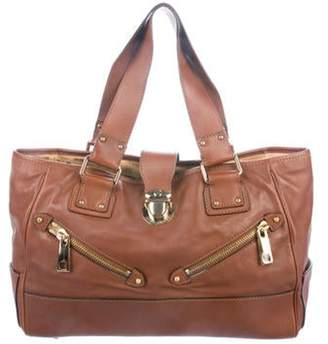 Marc Jacobs Leather Shoulder Tote Brown Leather Shoulder Tote