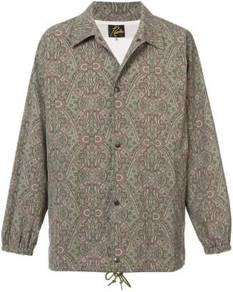 Needles patterned shirt jacket