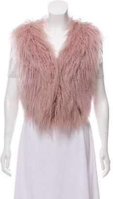 Adrienne Landau Mongolian Lamb Fur Vest w/ Tags