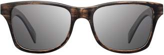 Shwood Canby Wood The Original Wood Sunglasses Distressed Dark Walnut Grey Polarized Lenses