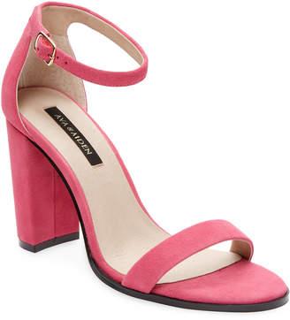 Ava & Aiden Leather Open-Toe High Heel Sandal