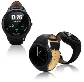 Indigi Deluxe A6 (Unlocked) SmartWatch & Phone - Bluetooth 4.0 Sync + Android 4.4 + Pedometer + Heart Monitor + WiFi
