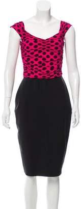 Chiara Boni Polka Dot Printed Knee-Length Dress w/ Tags