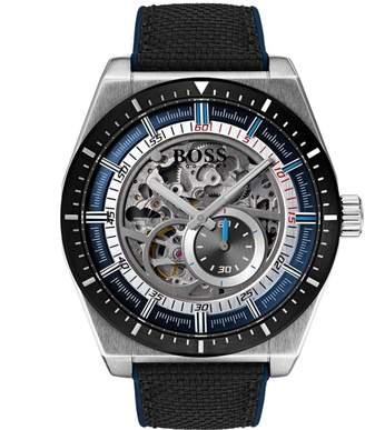 HUGO BOSS 1513643 Skelton Watch Black