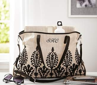 Pottery Barn Kids Natural Embroidered Diaper Tote