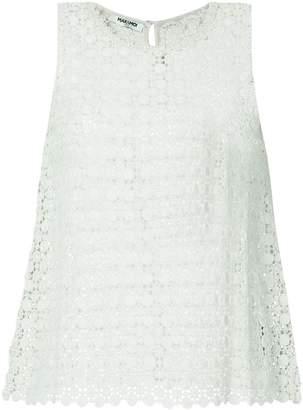 Max & Moi openwork lace vest