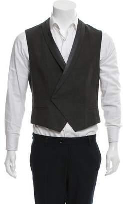 Haider Ackermann Linen Shawl Collar Vest
