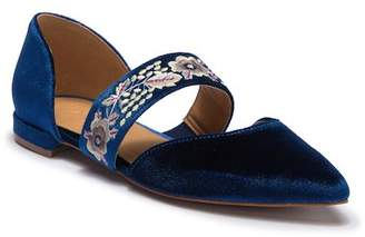 Bettye Muller Jamisen Velvet Pointed Toe Flat