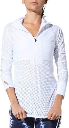 925 Fit Zip and Slide Mesh Pullover