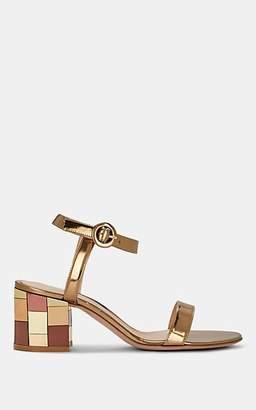 Gianvito Rossi Women's Mirrored-Heel Specchio Leather Sandals - Gold