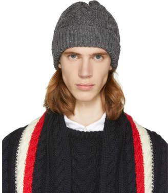Thom Browne Grey Aran Cable Hat