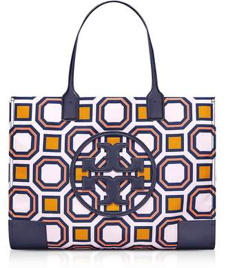 Tory Burch Ella Octagon Square Print Nylon Tote Bag