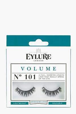boohoo NEW Womens Eylure Volume False Lashes - 101 in Black size One Size
