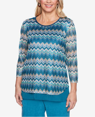 Alfred Dunner Victoria Falls Layered-Look Top