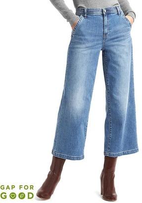Washwell high rise wide-leg crop jeans