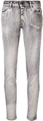 Just Cavalli bleached effect skinny jeans
