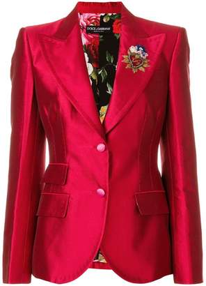 Dolce & Gabbana Giacca crest detail blazer