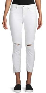 Vigoss Mid-Rise Straight Cropped Jeans